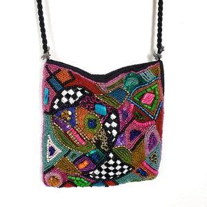 Handmade Bead Boho Festival Crossbody Shoulder Bag